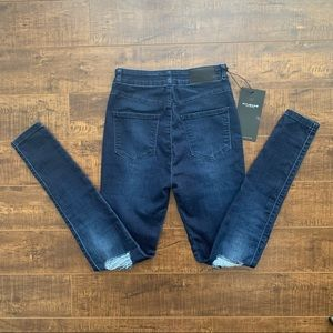 NWT Fit Jeans Indigo High Waisted Ripped Jeans, S